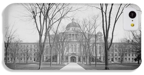 University Hall, University Of Michigan, C.1905 Bw Photo IPhone 5c Case by Detroit Publishing Co.