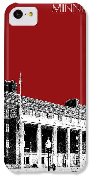 University Of Minnesota - Coffman Union - Dark Red IPhone 5c Case by DB Artist
