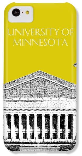 University Of Minnesota 2 - Northrop Auditorium - Mustard Yellow IPhone 5c Case by DB Artist