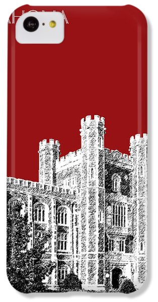 University Of Oklahoma - Dark Red IPhone 5c Case by DB Artist