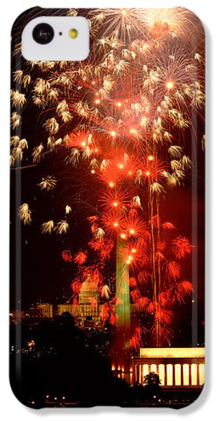 Usa, Washington Dc, Fireworks IPhone 5c Case by Panoramic Images