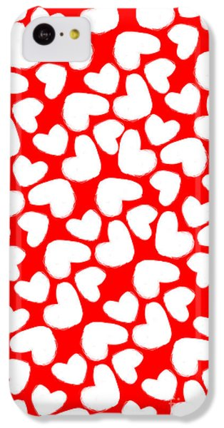 Valentines Day Card IPhone 5c Case by Louisa Knight