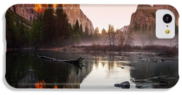 Valley View Winter Sunset Yosemite National Park IPhone 5c Case by Scott McGuire