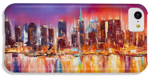 Vibrant New York City Skyline IPhone 5c Case by Manit
