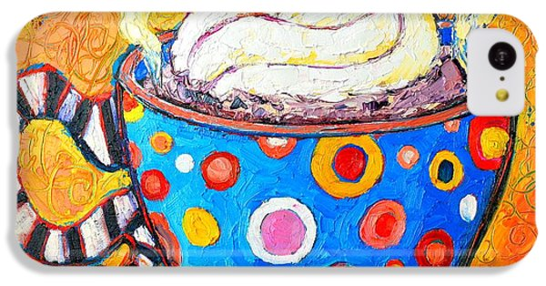Viennese Cappuccino Whimsical Colorful Coffee Cup IPhone 5c Case by Ana Maria Edulescu