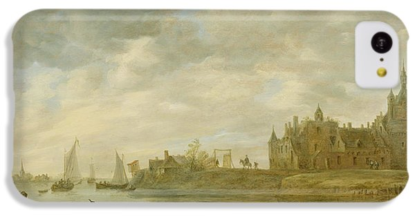 View Of The Castle Of Wijk At Duurstede IPhone 5c Case by Jan van Goyen