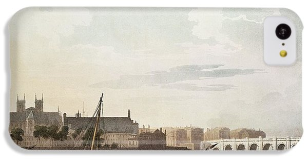 View Of Westminster And The Bridge Wc On Paper IPhone 5c Case by English School