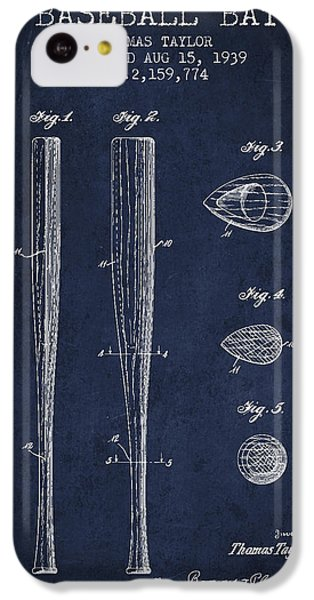 Vintage Baseball Bat Patent From 1939 IPhone 5c Case by Aged Pixel