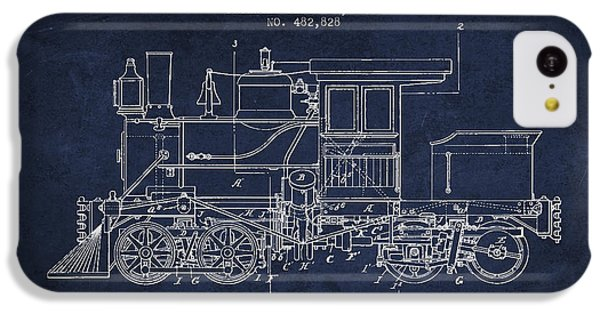 Vintage Locomotive Patent From 1892 IPhone 5c Case by Aged Pixel