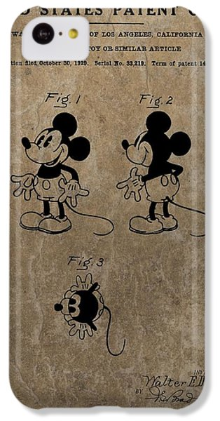 Vintage Mickey Mouse Patent IPhone 5c Case by Dan Sproul
