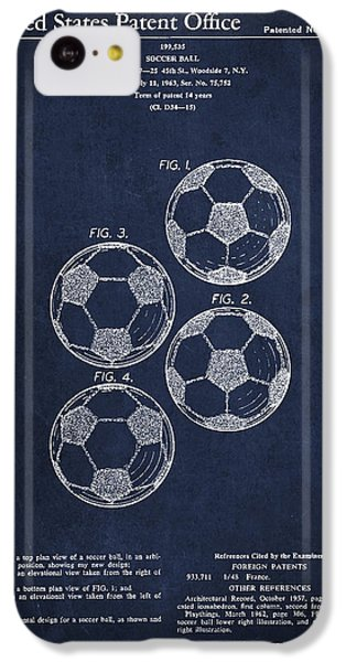 Vintage Soccer Ball Patent Drawing From 1964 IPhone 5c Case by Aged Pixel