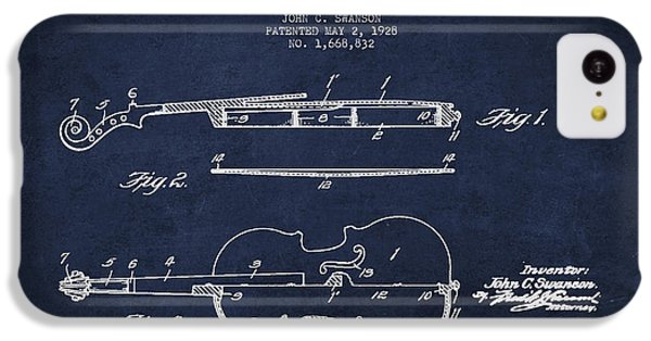 Vintage Violin Patent Drawing From 1928 IPhone 5c Case by Aged Pixel