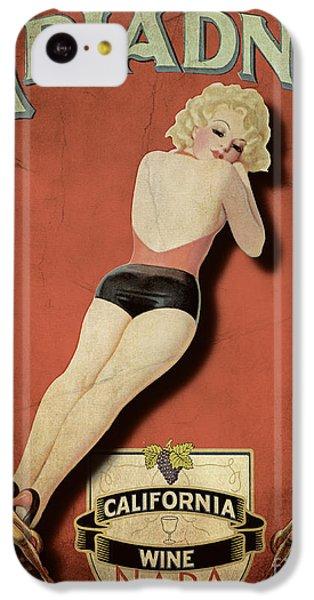 Vintage Wine Ad II IPhone 5c Case by Cinema Photography