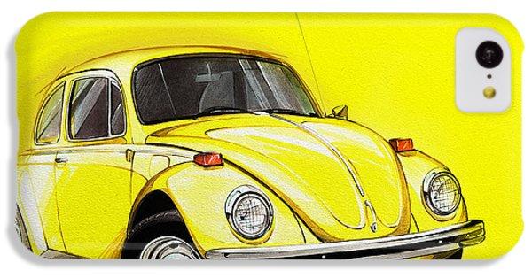 Volkswagen Beetle Vw Yellow IPhone 5c Case by Etienne Carignan