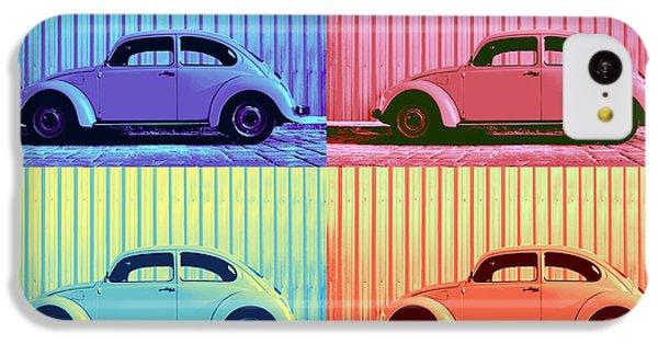 Vw Beetle Pop Art Quad IPhone 5c Case by Laura Fasulo