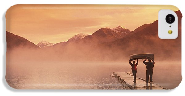 Walking On Dock Robe Lake  Sunrise Sc IPhone 5c Case by Michael DeYoung