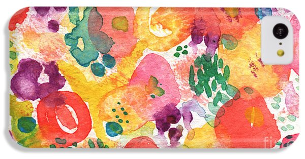Watercolor Garden IPhone 5c Case by Linda Woods
