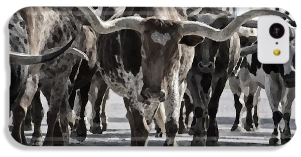 Watercolor Longhorns IPhone 5c Case by Joan Carroll
