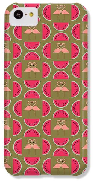Watermelon Flamingo Print IPhone 5c Case by Susan Claire