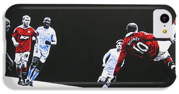 Wayne Rooney - Manchester United Fc IPhone 5c Case by Geo Thomson