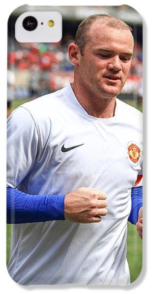Wayne Rooney 5 IPhone 5c Case by Keith R Crowley