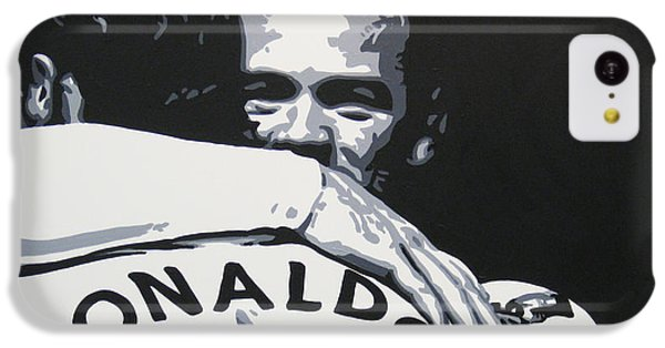Wayne Rooney And Ronaldo - Manchester United Fc IPhone 5c Case by Geo Thomson