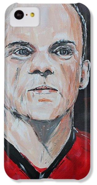 Wayne Rooney IPhone 5c Case by John Halliday