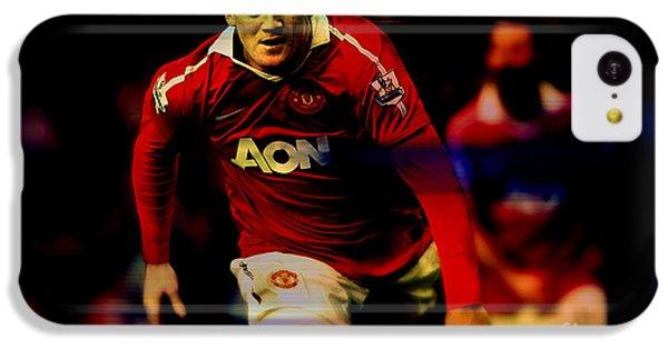Wayne Rooney IPhone 5c Case by Marvin Blaine