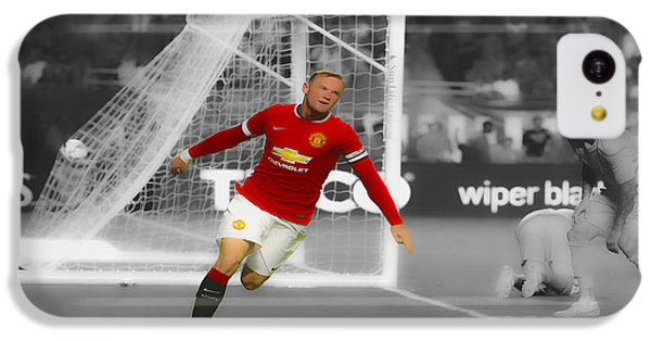 Wayne Rooney Scores Again IPhone 5c Case by Brian Reaves