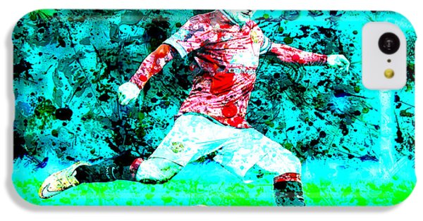 Wayne Rooney Splats IPhone 5c Case by Brian Reaves