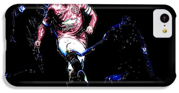 Wayne Rooney Working Magic IPhone 5c Case by Brian Reaves
