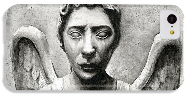 Weeping Angel Don't Blink Doctor Who Fan Art IPhone 5c Case by Olga Shvartsur