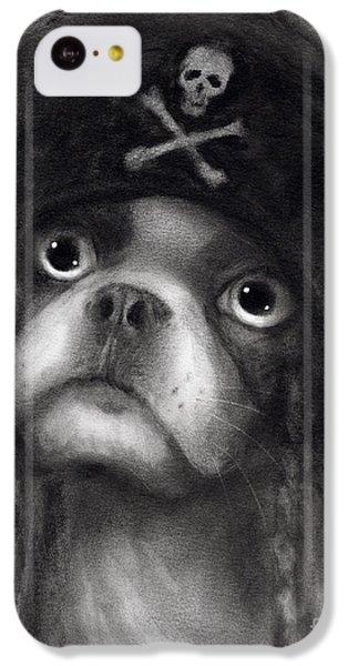 Whimsical Funny French Bulldog Pirate  IPhone 5c Case by Svetlana Novikova