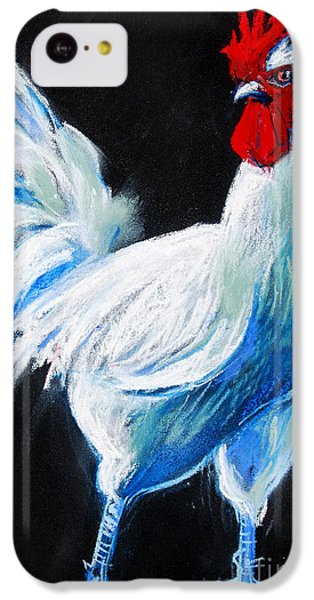 White Chicken IPhone 5c Case by Mona Edulesco