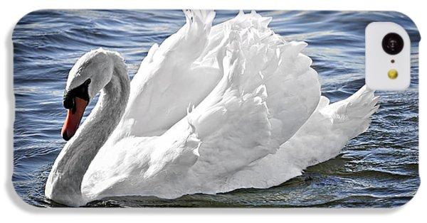 White Swan On Water IPhone 5c Case by Elena Elisseeva