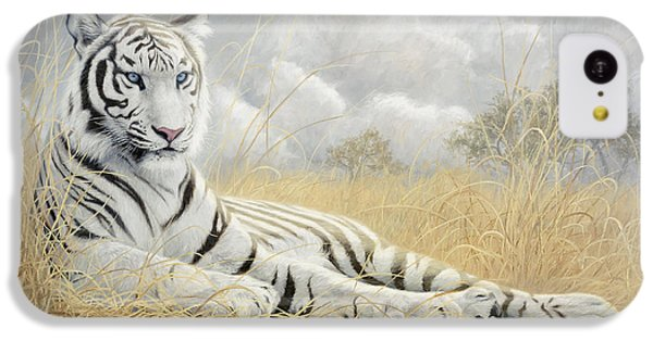 White Tiger IPhone 5c Case by Lucie Bilodeau