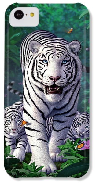 White Tigers IPhone 5c Case by Jerry LoFaro