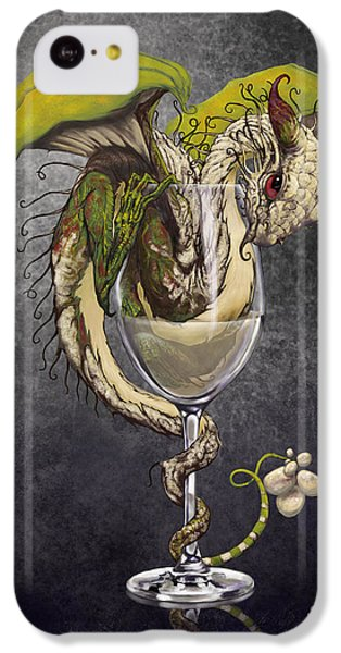 White Wine Dragon IPhone 5c Case by Stanley Morrison
