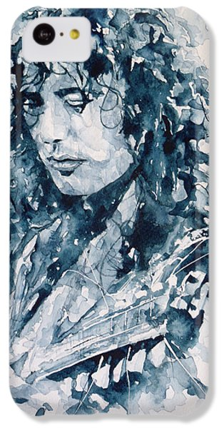 Whole Lotta Love Jimmy Page IPhone 5c Case by Paul Lovering