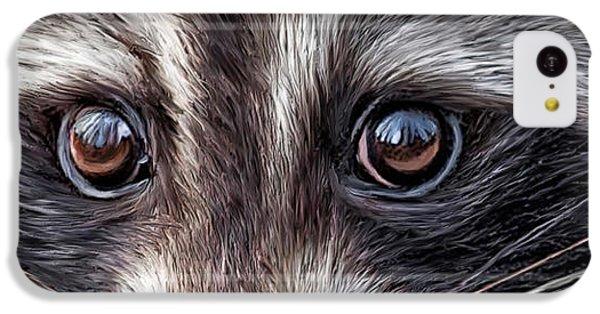 Wild Eyes - Raccoon IPhone 5c Case by Carol Cavalaris