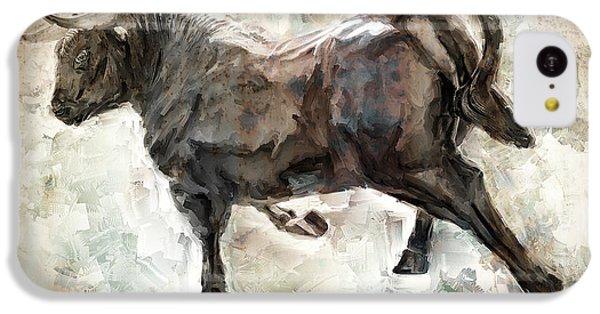 Wild Raging Bull IPhone 5c Case by Daniel Hagerman