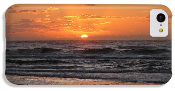 Wildwood Beach Here Comes The Sun IPhone 5c Case by David Dehner