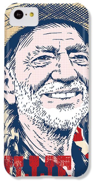 Willie Nelson Pop Art IPhone 5c Case by Jim Zahniser