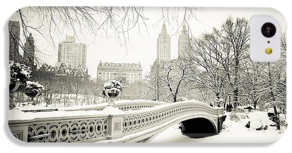 Winter's Touch - Bow Bridge - Central Park - New York City IPhone 5c Case by Vivienne Gucwa