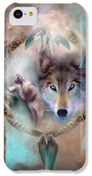Wolf - Dreams Of Peace IPhone 5c Case by Carol Cavalaris