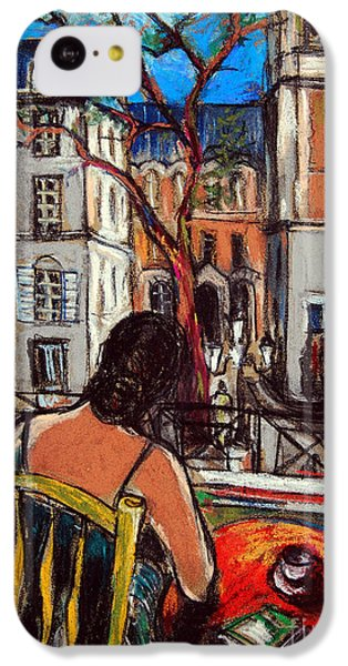 Woman At Window IPhone 5c Case by Mona Edulesco