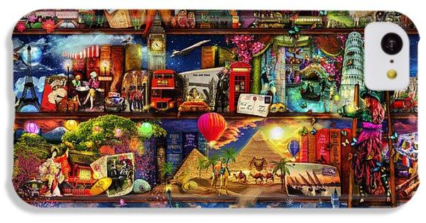 World Travel Book Shelf IPhone 5c Case by Aimee Stewart