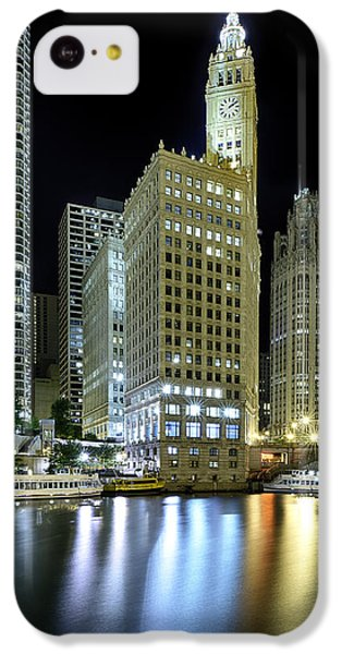 Wrigley Building At Night  IPhone 5c Case by Sebastian Musial