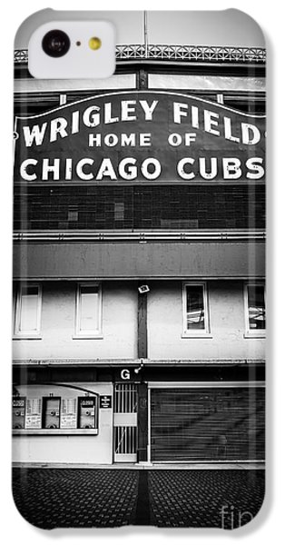 Wrigley Field Chicago Cubs Sign In Black And White IPhone 5c Case by Paul Velgos