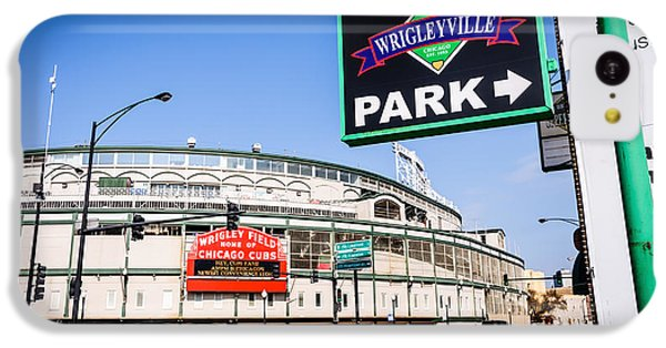 Wrigleyville Sign And Wrigley Field In Chicago IPhone 5c Case by Paul Velgos